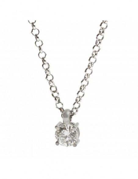 Solitario de diamante talla...