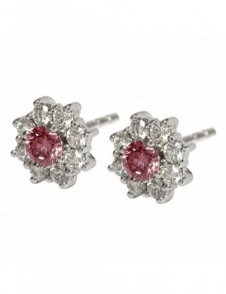 Rosetón con diamante rosa