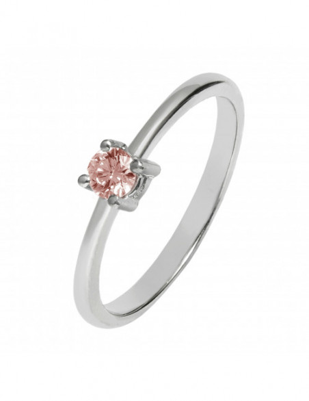 Solitario diamante rosa 4...