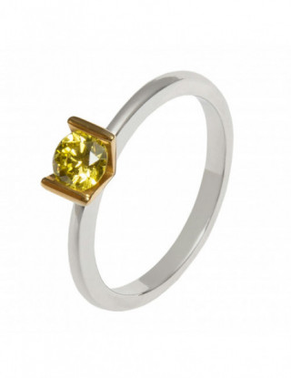 Solitario diamante amarillo