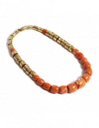 Collar oro y coral