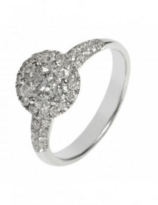 Sofisticado anillo roseton...