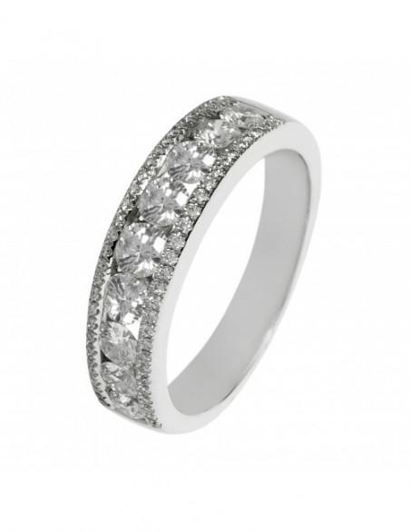 Alianza con encanto diamantes