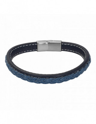 PULSERA MEN LEATHER JACK_ACERO