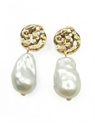 Pendientes plata y perla...