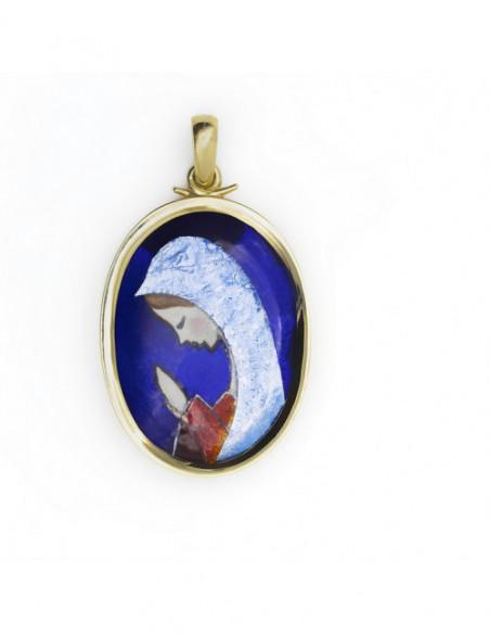 Medalla Virgen  esmaltada...