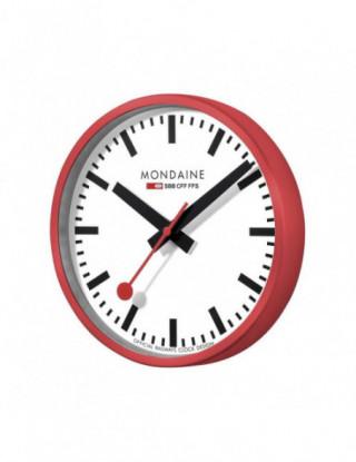 Mondaine reloj de pared rojo