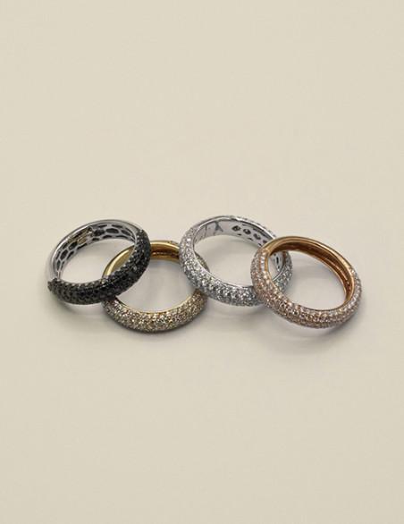 Alianza pave diamantes oro ley